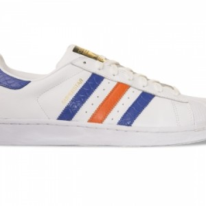 Adidas Superstar East River Rival White/Blue/Orange Leather Trainer