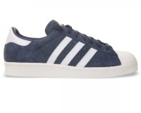 Adidas Superstar 80's DLX Blue/White Suede Trainers